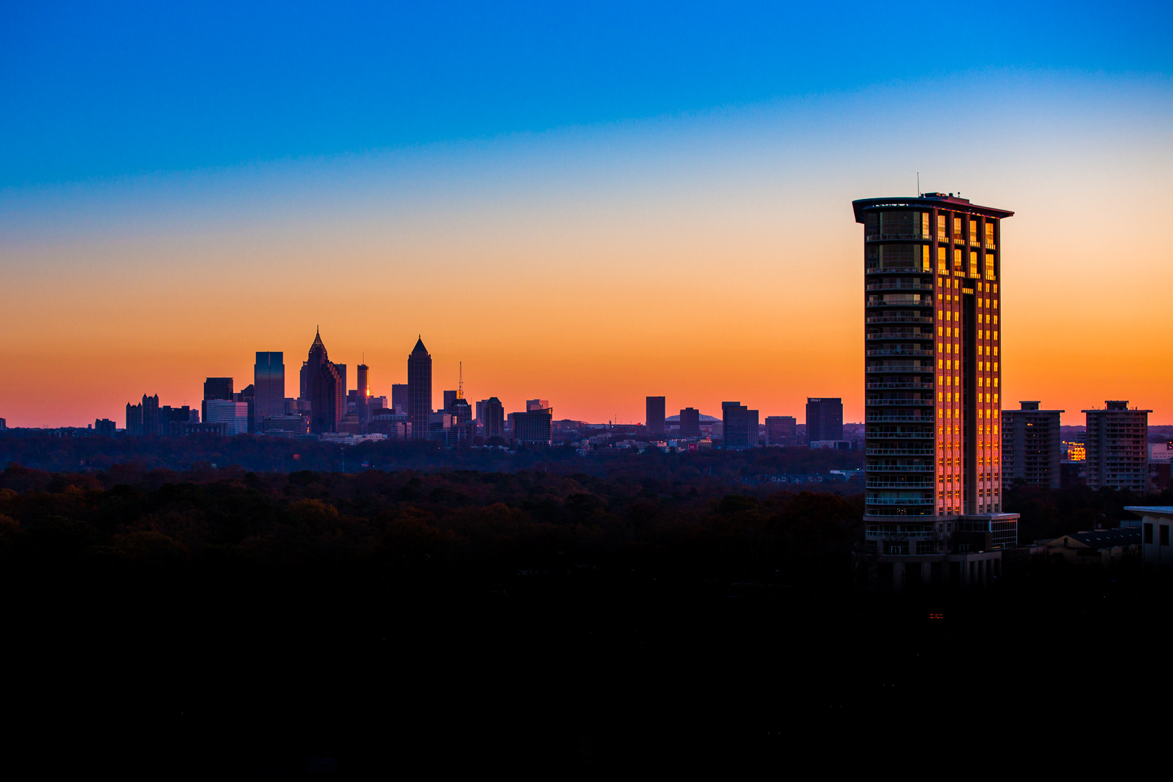 Atlanta Architectural Photography at Dusk