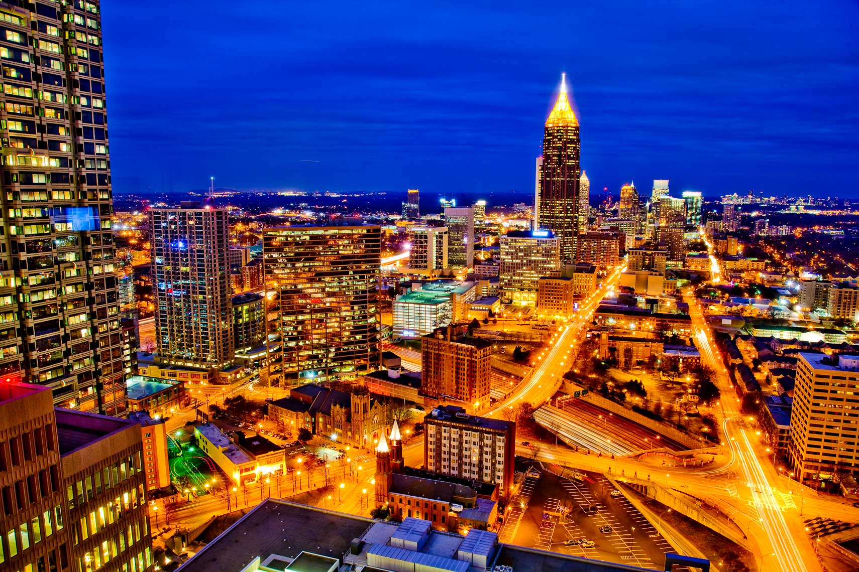 Atlanta Skyline Photography at Night