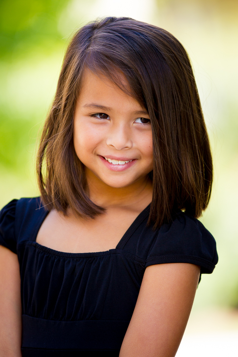 Environmental Headshot of Young Girl on Location