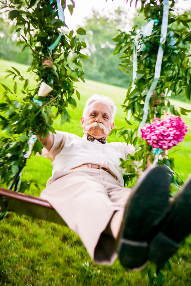Lifestyle Photo of Man on Swing