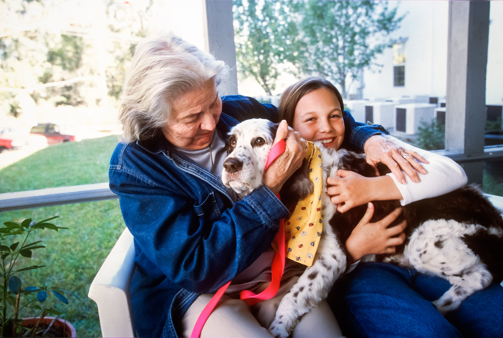 Lifestyle Photo with Grandmother and Dog