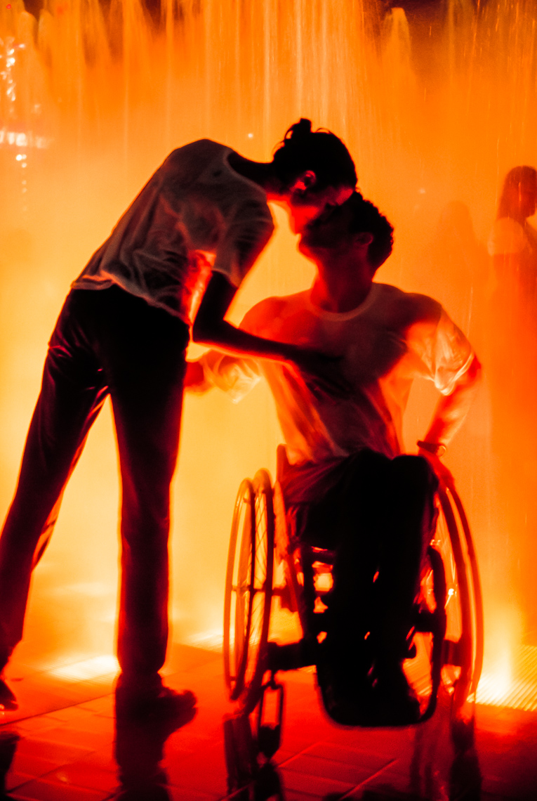 Lifestyle Photograph of Olympic Park Wheelchair Kiss