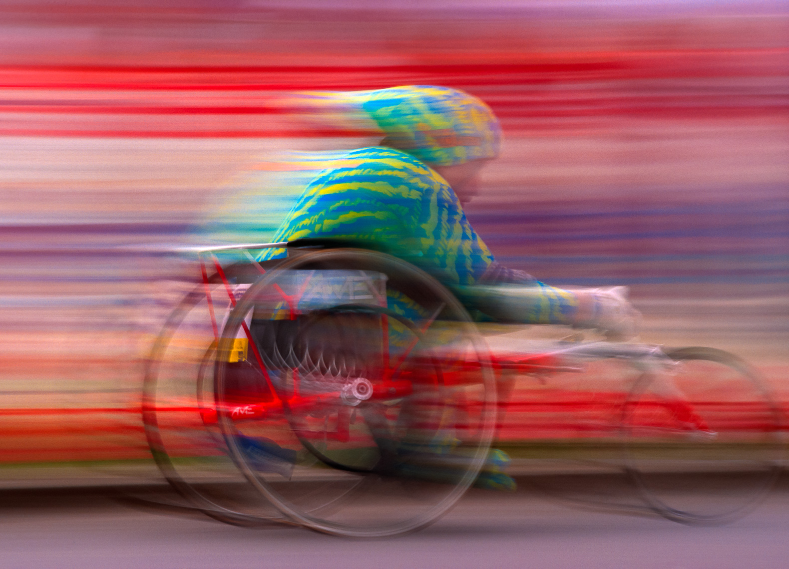 Wheelchair Racer in Motion