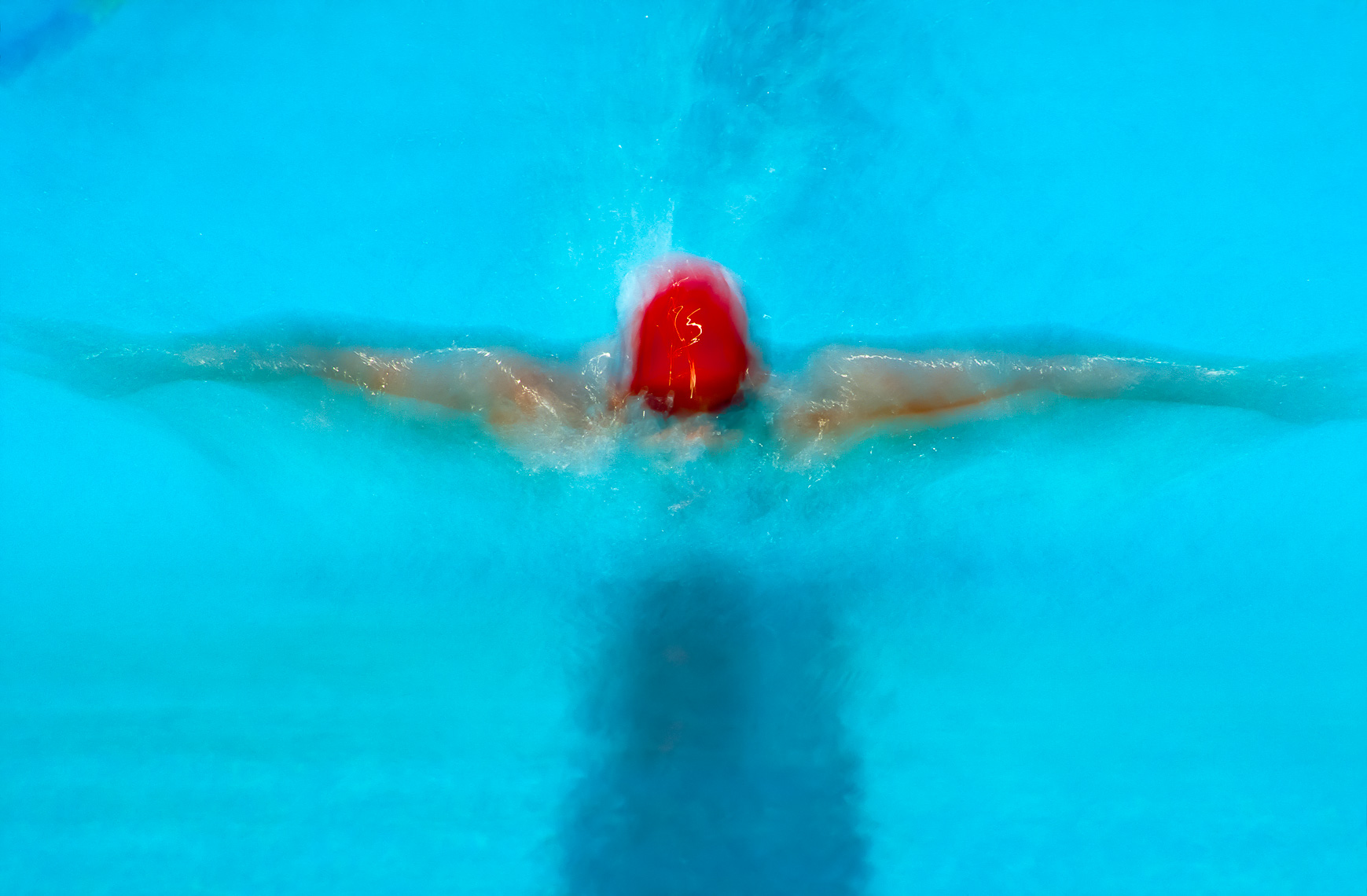 Artistic Sports Butterfly Swimmer